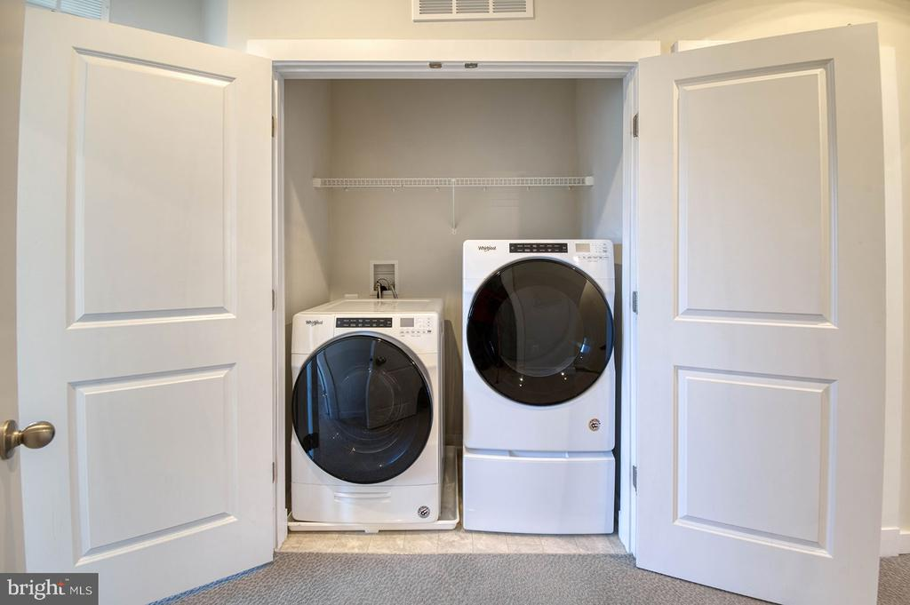 Full size washer and dryer on 3rd level - 8819 SHADY PINES DR, FREDERICK