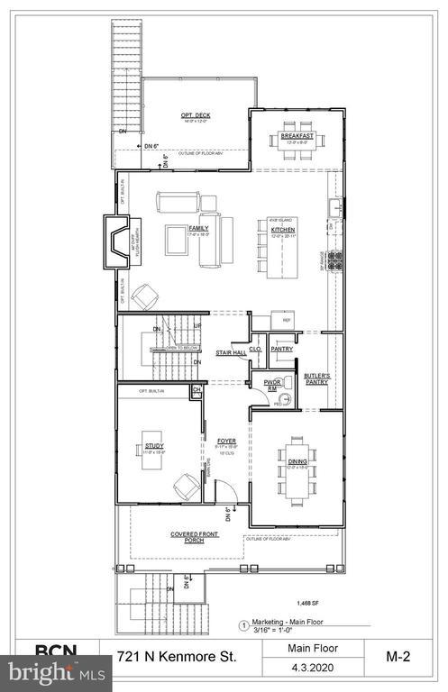 Proposed main floor - 721 N KENMORE ST, ARLINGTON