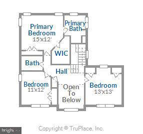 Upper Level Floor Plan - 20689 CARNWOOD CT, STERLING