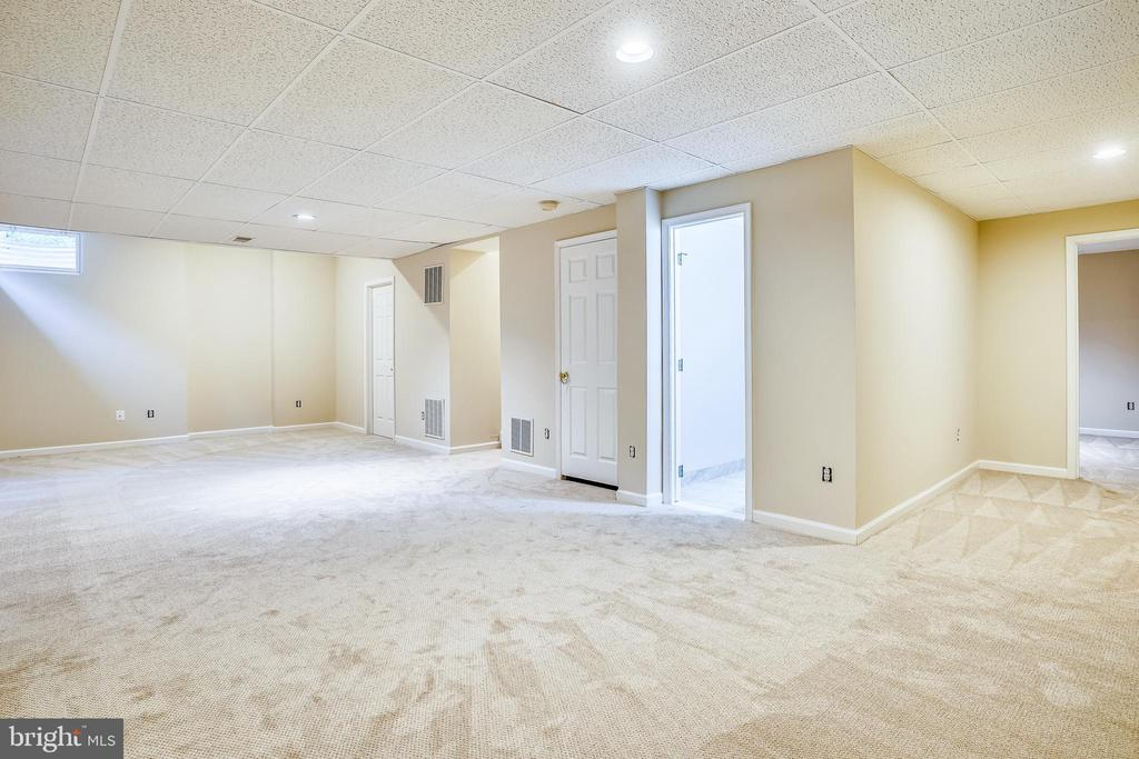 Lower Level Recreation Room with Brand New Carpet - 20689 CARNWOOD CT, STERLING