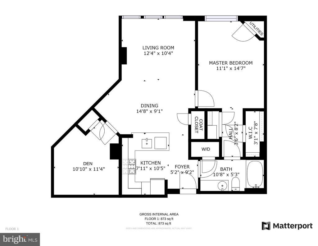 Floor Plans - 1021 N GARFIELD ST #714, ARLINGTON