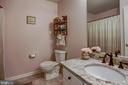 Hall bathroom- upper level - 7700 DUNEIDEN LN, MANASSAS