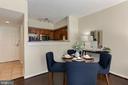 Dining Area - Brand New Hardwood Floors! - 1001 N RANDOLPH ST #214, ARLINGTON