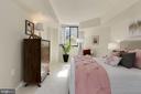 Bedroom - New Windows - Brand New Carpet & Paint! - 1001 N RANDOLPH ST #214, ARLINGTON