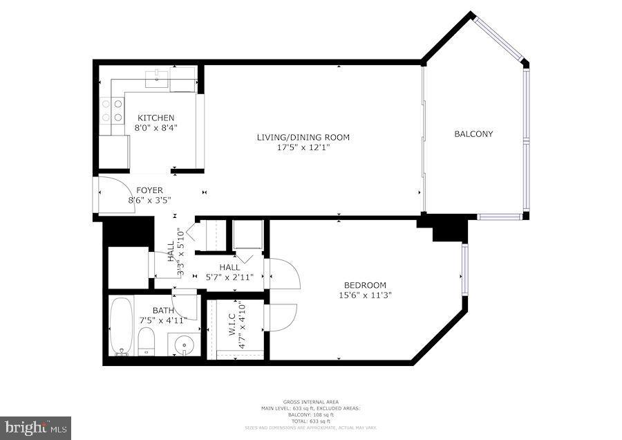 Floor Plan of Home - 1001 N RANDOLPH ST #214, ARLINGTON