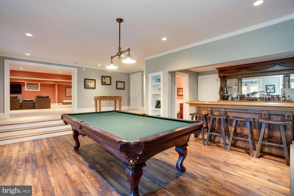 Billiards Room & Wet Bar - 1201 TOWLSTON RD, GREAT FALLS