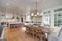 Breakfast Room & Kitchen - 1201 TOWLSTON RD, GREAT FALLS
