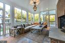 Screened in Porch - 1201 TOWLSTON RD, GREAT FALLS
