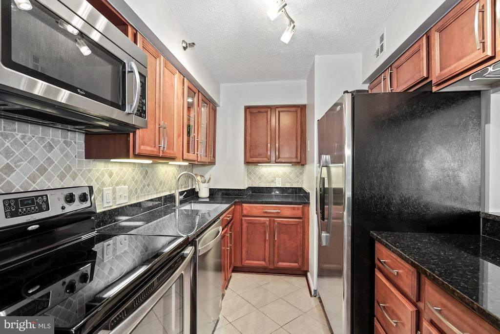Well-appointed kitchen - 1301 N COURTHOUSE RD #801, ARLINGTON