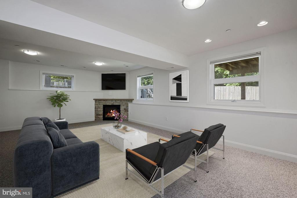 Lower-Level with Fireplace - 1903 KERMIT RD, SILVER SPRING