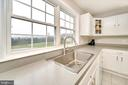 Window over kitchen sink with spectacular view - 20 VAN HORN LN, STAFFORD