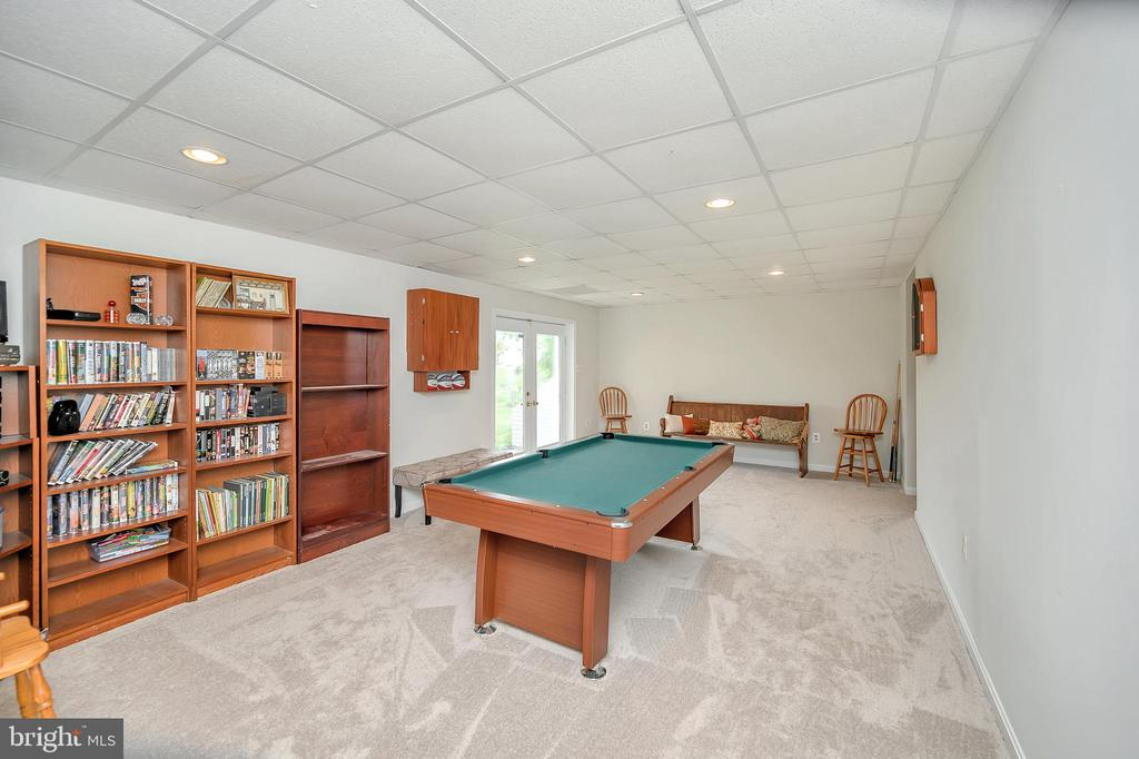 Your new game room in the lower level. - 20 VAN HORN LN, STAFFORD