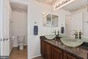Updated Hall Bath with  a Linen Closet - 10383 SESAME CT, MANASSAS