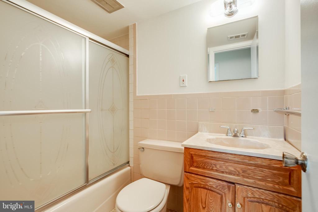 Lower Level full bath - 12813 LAYHILL RD, SILVER SPRING