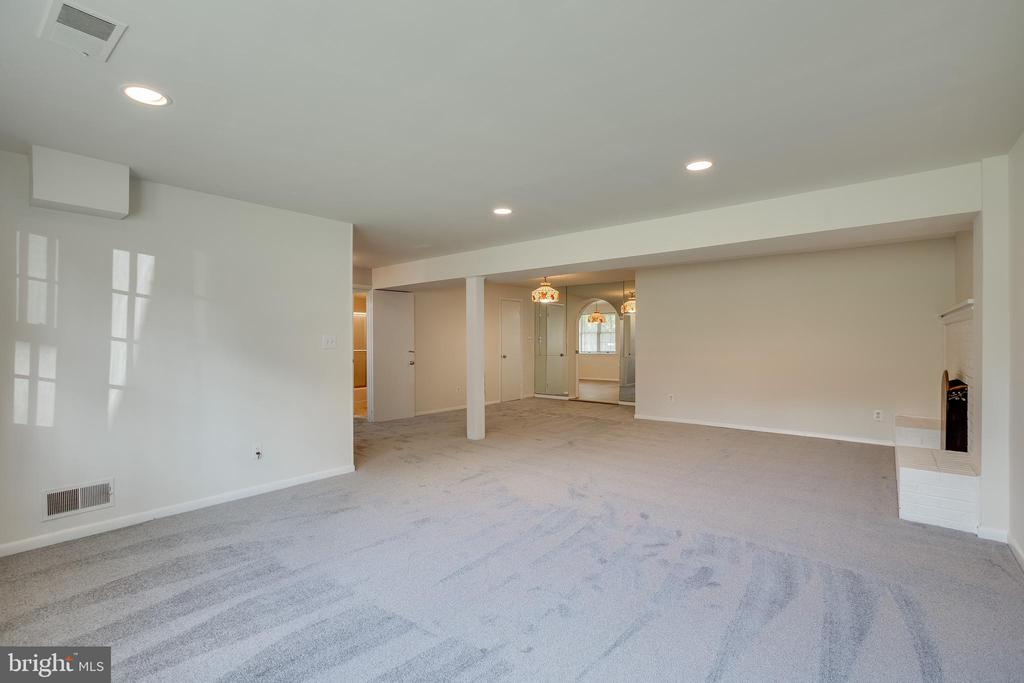 Lower Level Recreation Room - 12813 LAYHILL RD, SILVER SPRING