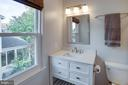 Hall bath - lovely vanity and tile floors - 5 DARIAN CT, STERLING