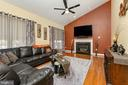 Family Room w/Vaulted Ceilings & Gas Fireplace - 14001 BANEBERRY CIR, MANASSAS