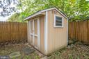 garden shed - 313 WOLFE ST, FREDERICKSBURG