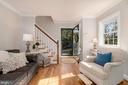 Sunny living room - 3502 HALCYON DR, ALEXANDRIA