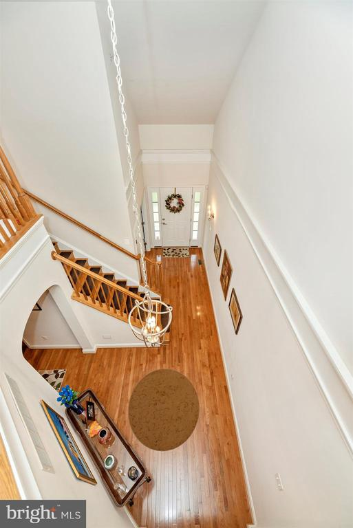 Open floor plan leads up to loft and two bedrooms. - 2513 MILL RACE RD, FREDERICK