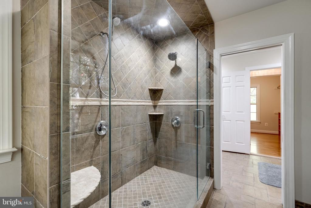 Primary shower stall - 10118 HAMPTON WOODS DR, FAIRFAX STATION