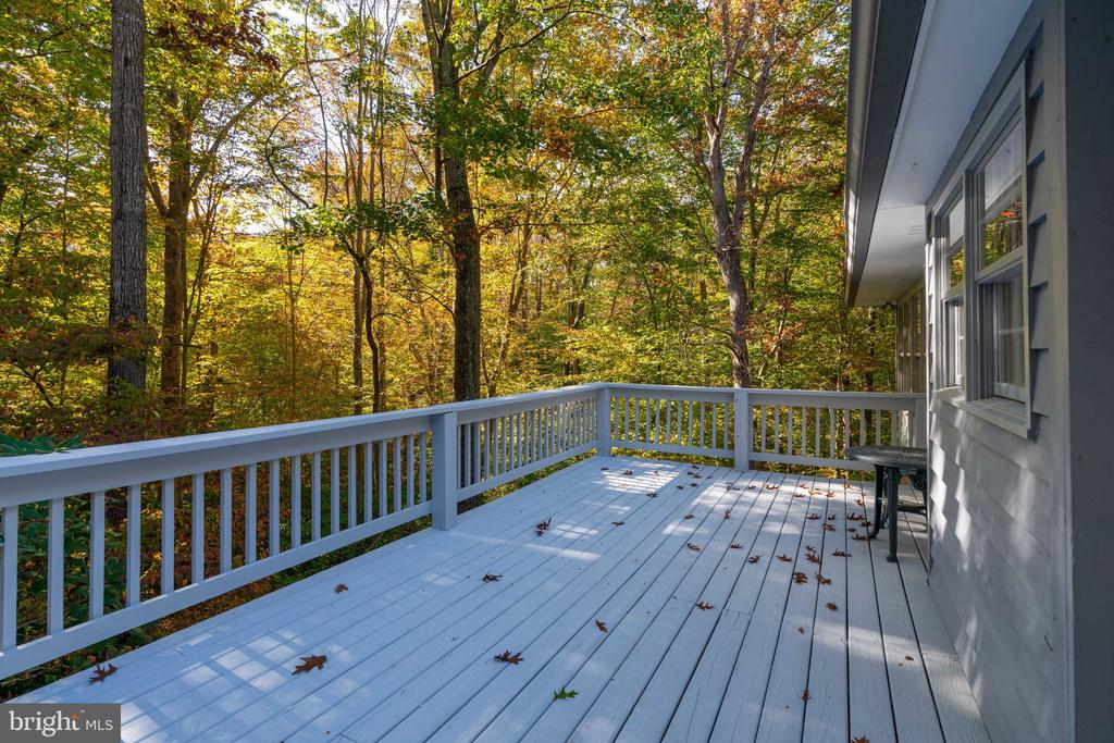 Side deck - 10118 HAMPTON WOODS DR, FAIRFAX STATION