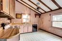 Kitchen with sloped ceiling - 210 N KING ST, LEESBURG