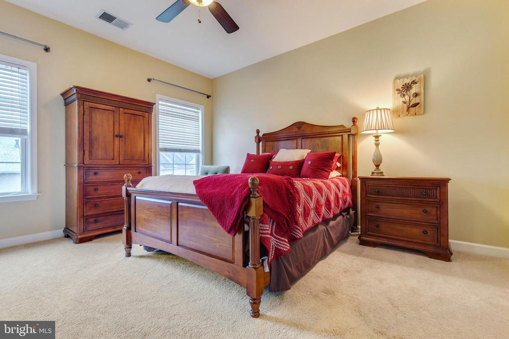Spacious Primary Bedroom with Ceiling Fan - 42475 MAGELLAN SQ, ASHBURN