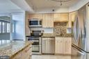 Stainless steel appliances and granite - 1301 N COURTHOUSE #1607, ARLINGTON