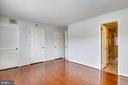Primary view of bedroom with bath room - 1301 N COURTHOUSE #1607, ARLINGTON