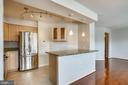 Contemporary lighting in the kitchen - 1301 N COURTHOUSE #1607, ARLINGTON