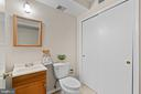 Half bath could easily be converted to full bath! - 207 ORCHARD CIR, HAMILTON