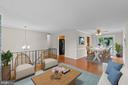 Living room flows into dining room - 207 ORCHARD CIR, HAMILTON
