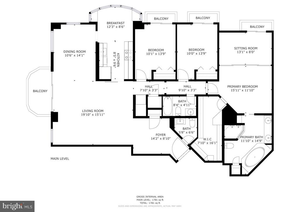 Floor Plan - 5000 BATTERY LN #1003, BETHESDA