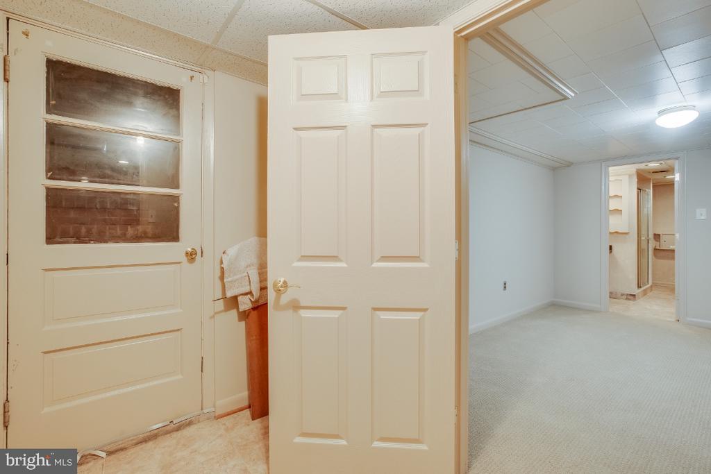 Walk up stairs through cellar door - 161 LAWSON RD SE, LEESBURG