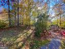 Wooded backyard - 10810 PENINSULA CT, MANASSAS