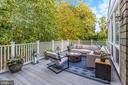 Second Level of Tiered Deck - 3307 MACOMB ST NW, WASHINGTON