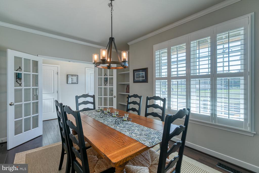 Spacious Dining Room with Built in Shelves - 1419 HANOVER ST, FREDERICKSBURG
