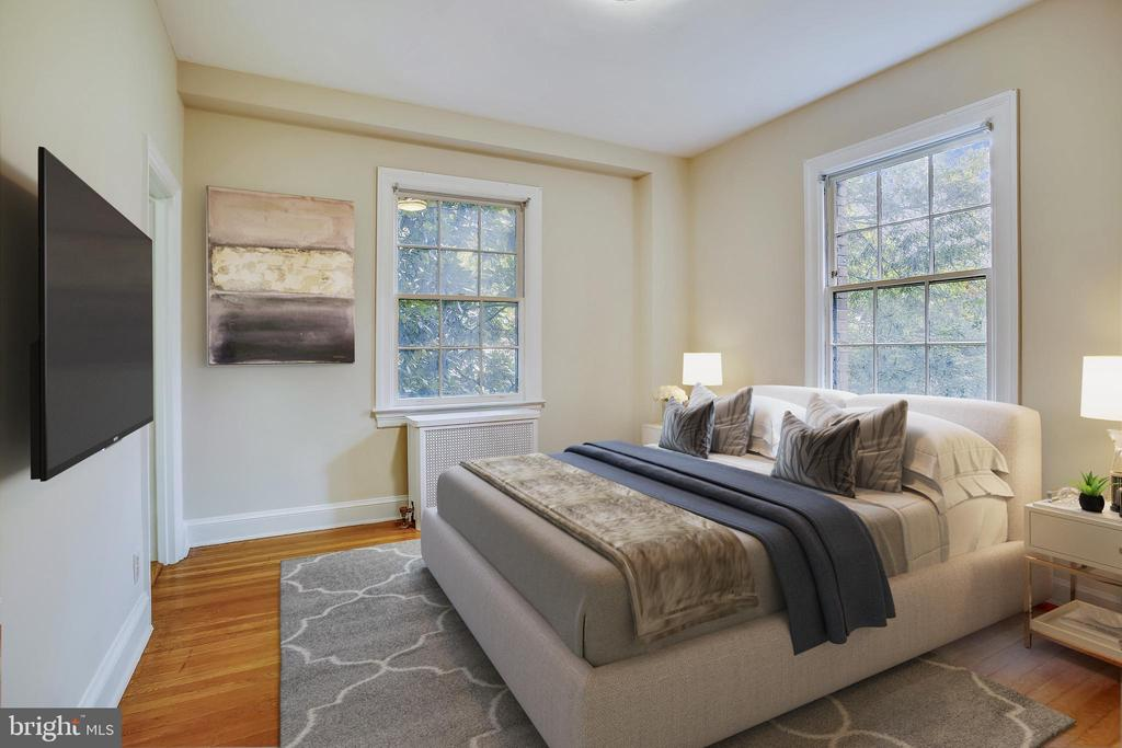Bedroom - Virtually Staged - 3900 CONNECTICUT AVE NW #105-F, WASHINGTON