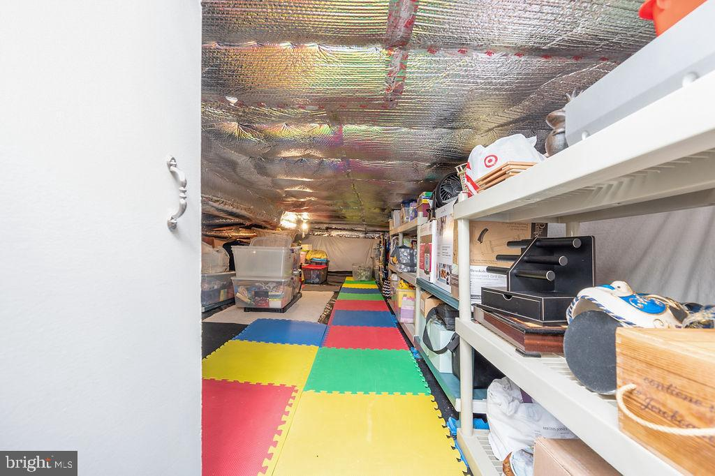 Clean and dry crawl space converted into storage - 67 CARDINAL FOREST DR, FREDERICKSBURG