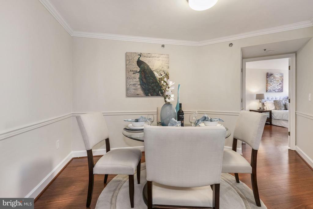 Dining Room toward Main Bedroom Suite - 1276 N WAYNE ST #807, ARLINGTON