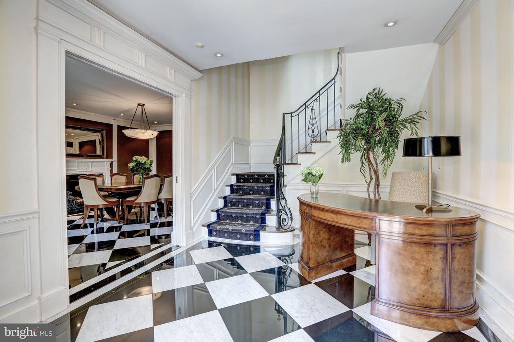 Marble Floors Line the Lower Level - 2507 MASSACHUSETTS AVE NW, WASHINGTON