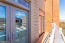 23 Balconies off of Living Area - 309 HOLLAND LN #115, ALEXANDRIA