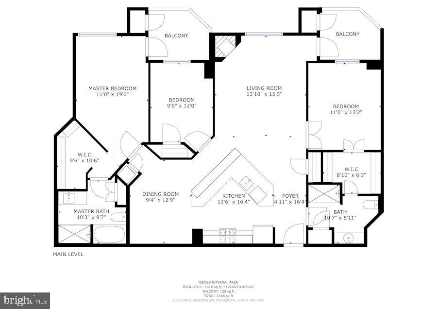 Floor Plan - 1276 N WAYNE ST #807, ARLINGTON