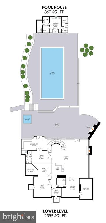 Lower Level Floorplan - 2479 OAKTON HILLS DR, OAKTON