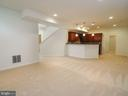 Large rec room with expansive kitchenette - 14973 SPRIGGS TREE LN, WOODBRIDGE