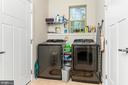Laundry Room & Half Bath off of the Garage and Kit - 18228 RED MULBERRY RD, DUMFRIES