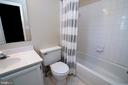 Primary bath with shower tub. - 102 TWIN BROOK LN, STAFFORD