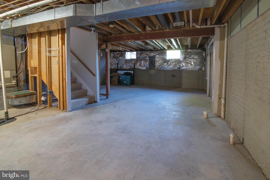 Basement w/ loads of potential.  Design to liking. - 102 TWIN BROOK LN, STAFFORD