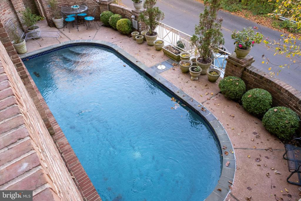 View of Pool from Entry Mezzanine - 2128 CATHEDRAL AVE NW, WASHINGTON